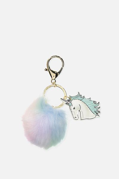 Bag Charm, UNICORN POM POM