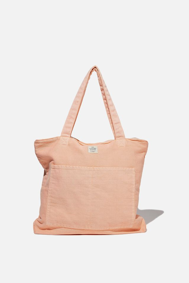 The Daily Tote Bag, WASHED PEACH CANDY