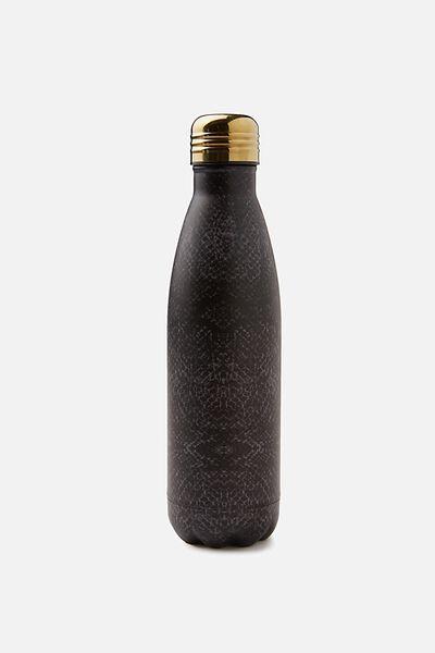 Metal Drink Bottle, SNAKE SKIN