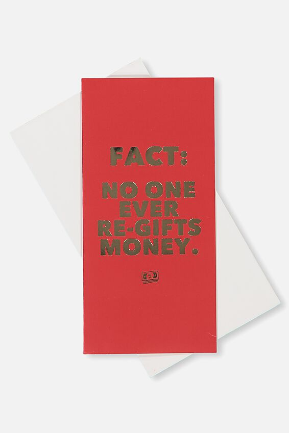 Gift Wallet, NO ONE EVER REGIFTS MONEY