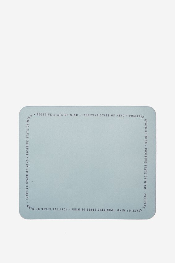 Neoprene Mouse Pad, POSITIVE STATE OF MIND