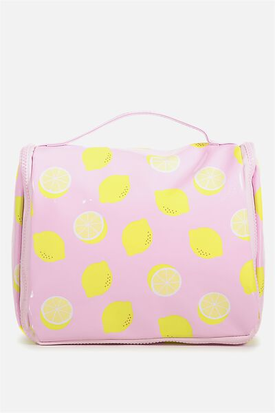 Hanging Cosmetic Bag, LEMONS
