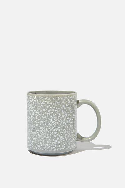 Daily Mug, COOL GREY MEADOW DITSY