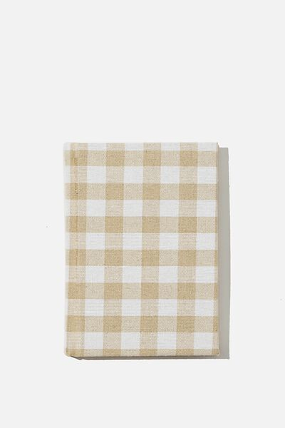 A6 Oxford Notebook, MUSTARD GINGHAM