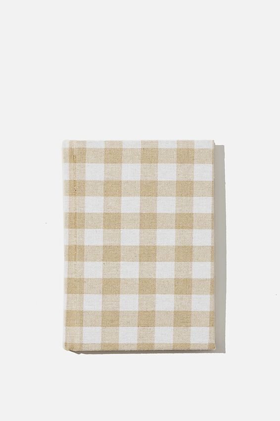 A6 Oxford Notebook, MUSTARD GINGHAM