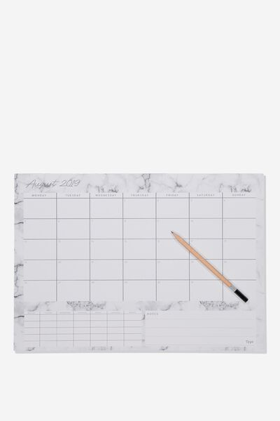 2019/20 A3 Plan Ahead Planner, MARBLE