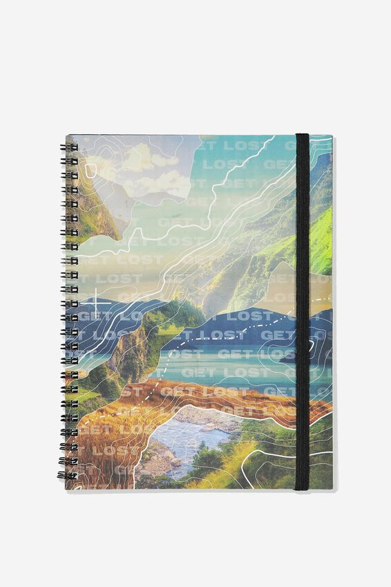 A5 Spinout Notebook Recycled, DIGITAL MOUNTAINS