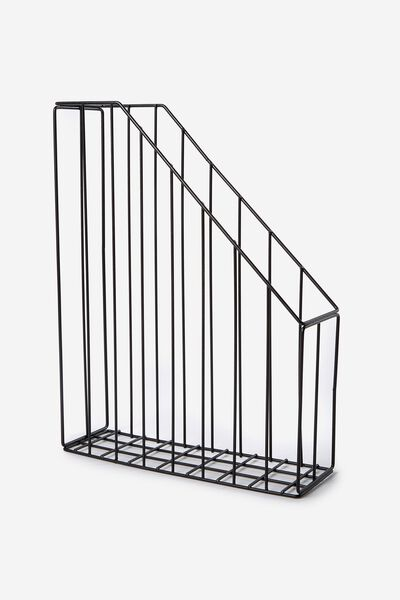 Metal Magazine Holder, BLACK