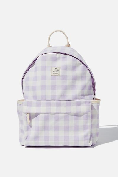 Fundamental Backpack, GINGHAM PALE LILAC