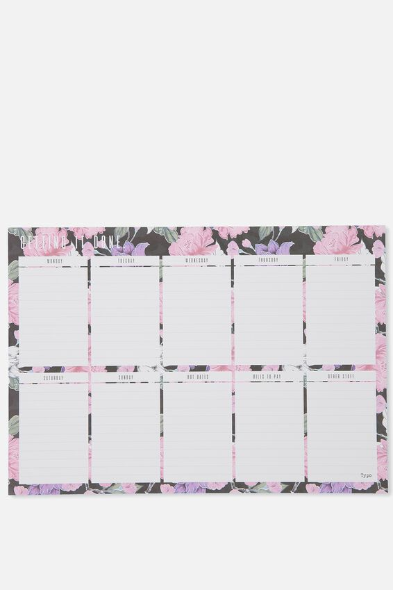 A3 Extra Large Plan Ahead Planner, HAZEL FLORAL
