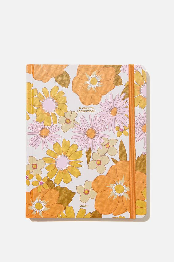 2021 Wellness Planner, PINK ORANGE STEVIE FLORAL