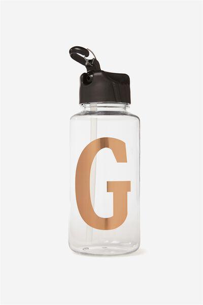 Alphabet Drink Bottle, ROSE GOLD G