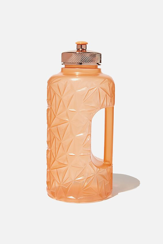 Faceted Drink Bottle, CORAL