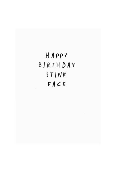 Core Birthday Card, FB-STINK FACE