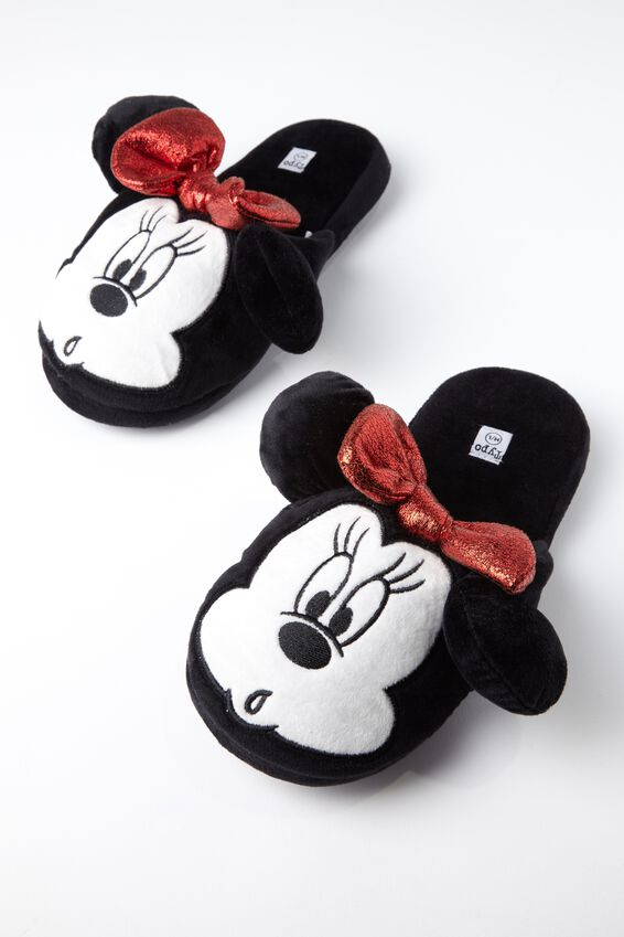 Disney Novelty Slippers, LCN MINNIE FACE