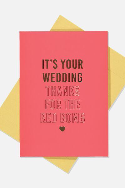 Wedding Card, RED WEDDING
