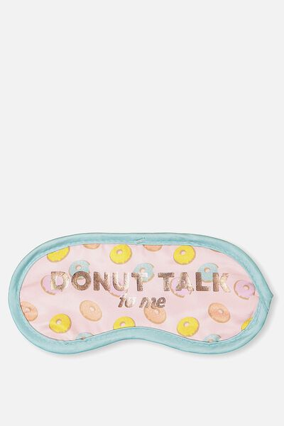 Easy On The Eye Sleep Mask, PINK DONUTS