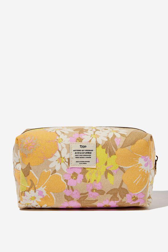 Florence Pencil Case, SAND GOLDIE FLORAL