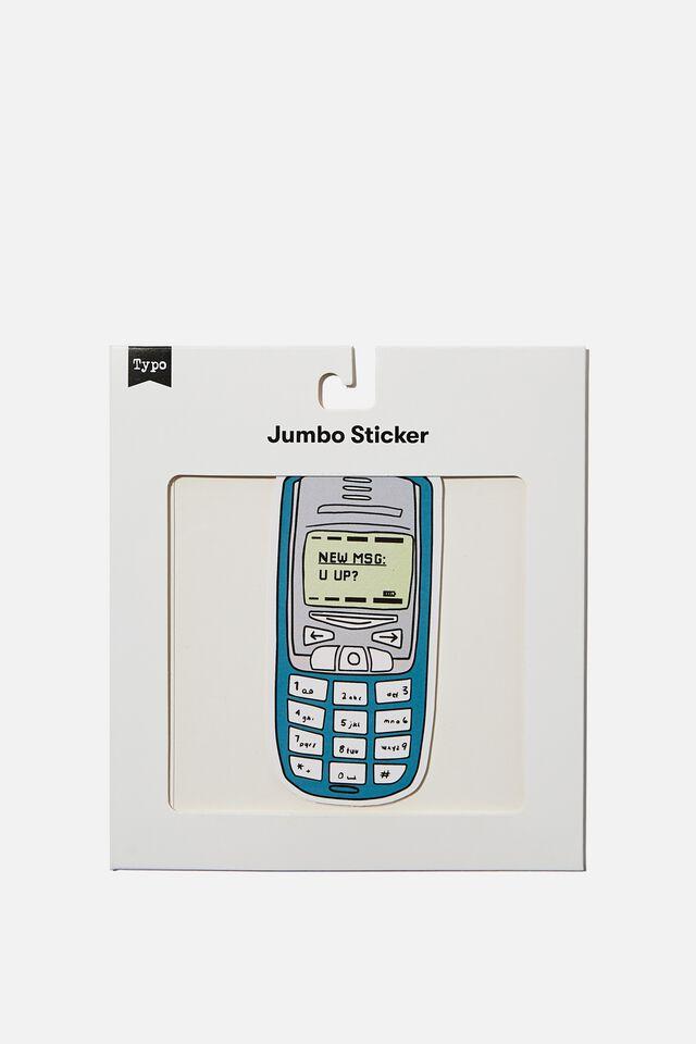 Jumbo Sticker, RETRO PHONE