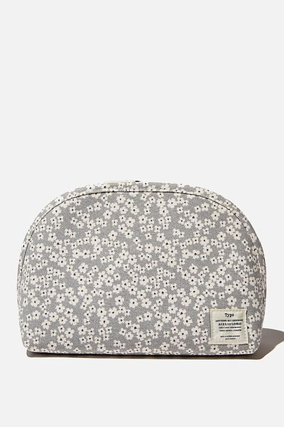 Canvas Essential Pouch, CHERRY BLOSSOM COOL GREY