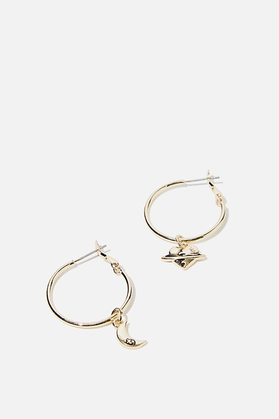 Novelty Earrings, PLANET HOOPS