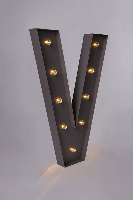 Marquee Letter Lights 70cm, SILVER V