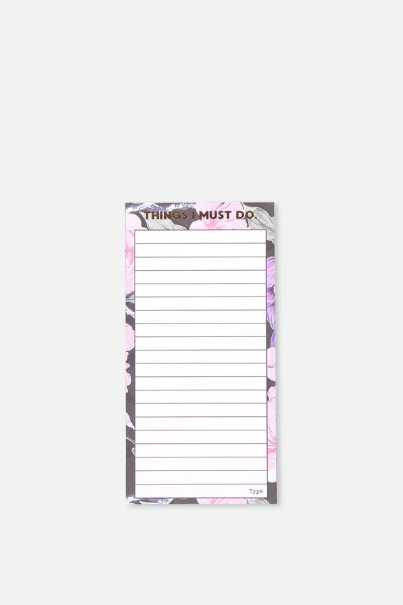 Make A List Note Pad, LUSH FLORAL