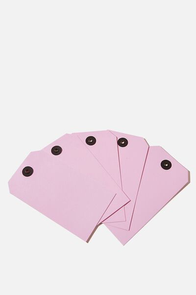 Gift Tag 5 Pack, PLASTIC PINK