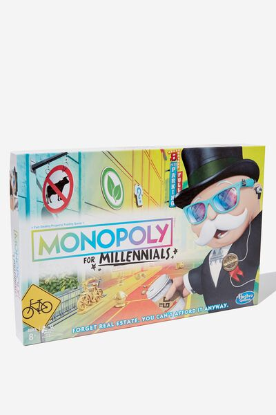 Monopoly Board Game, MILLENIAL MONOPOLY