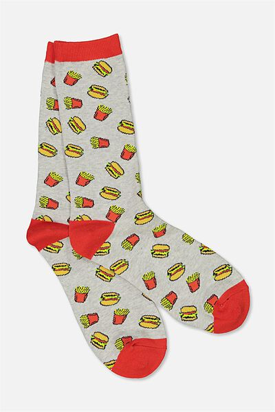 Mens Novelty Socks, JUNK FOOD