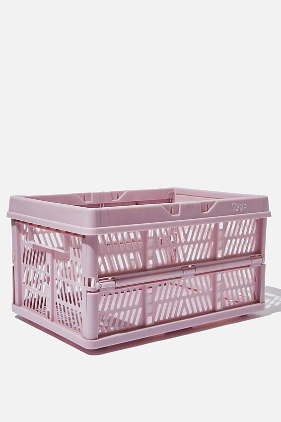 Large Foldable Storage Crate, HEATHER