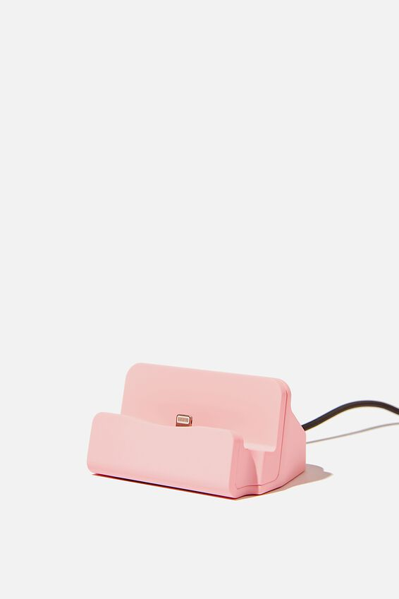Phone Docking Station, PLASTIC PINK
