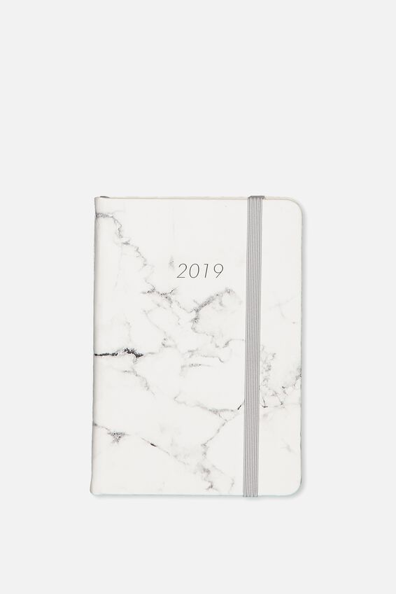 2019 Small A6 Daily Buffalo Planner, GREY MARBLE