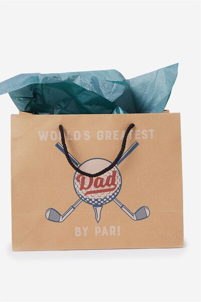 Stuff It Gift Bag Medium With Tissue Paper, DAD BY PAR