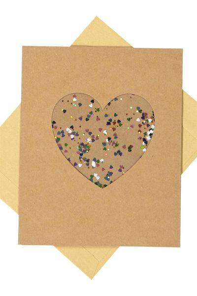 Specialty Love Card, CONFETTI HEART