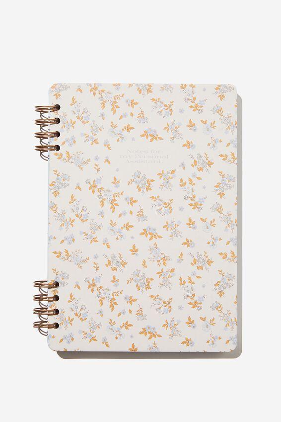 Billie B5 Notebook, COTTAGE FLORAL BLUE