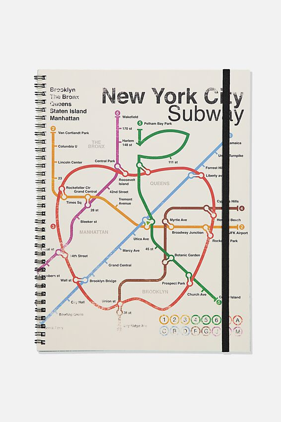 A4 Spinout Notebook Recycled, TBAR NEW YORK SUBWAY