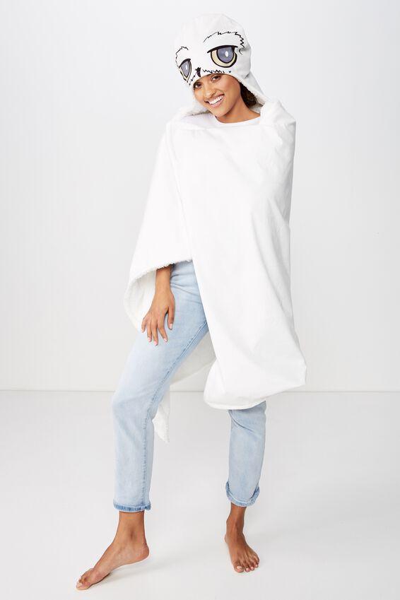 Harry Potter Hooded Blanket, LCN WB HP HEDWIG VELVET