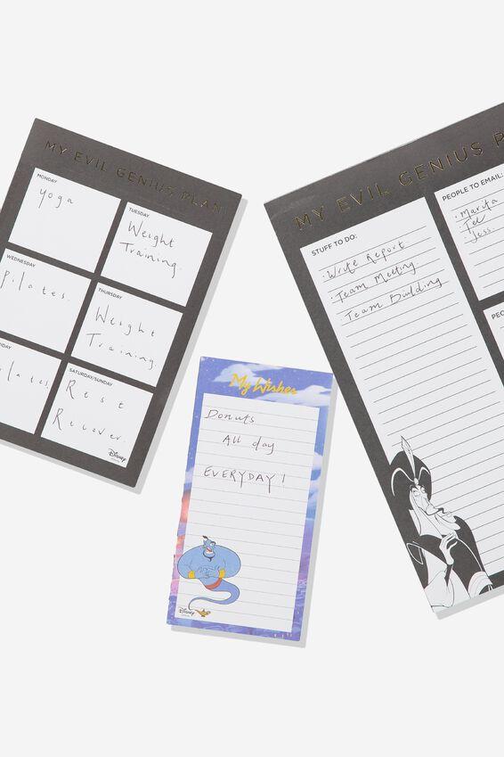 Disney Notepad 3Pk, LCN DIS ALADDIN JAFAR GENIUS PLAN