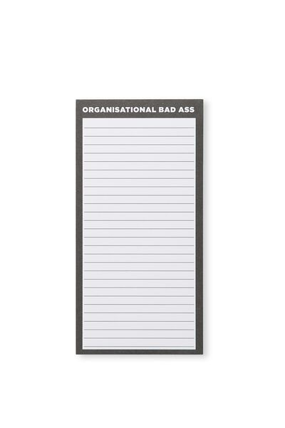 Make A List Note Pad, BLACK ORGANISATIONAL BAD ASS!