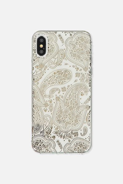 Transparent Phone Cover X, ROSE GOLD LACE