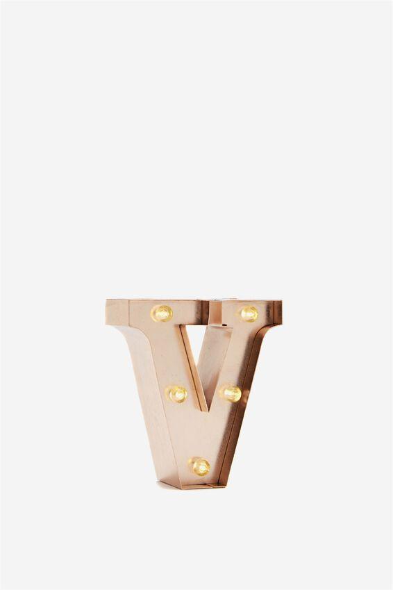 Mini Marquee Letter Lights 10cm, ROSE GOLD V