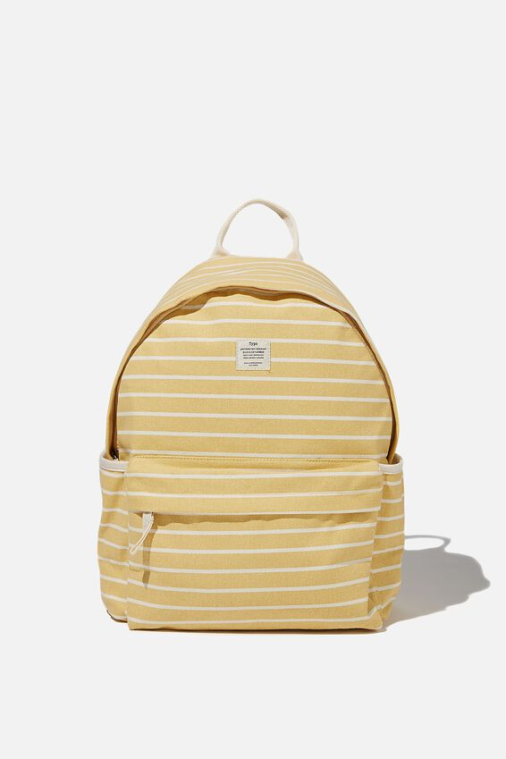 Fundamental Backpack, WASHED MUSTARD 70S STRIPE