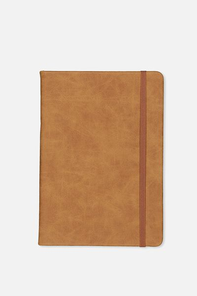 A5 Buffalo Journal Grid Internal, MID TAN