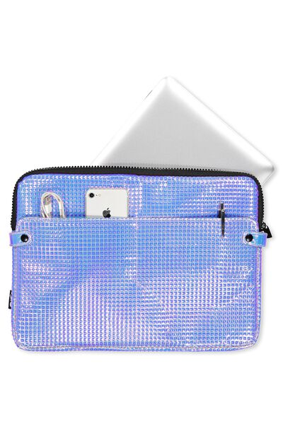 Varsity Laptop Case 15 Inch, HOLOGRAPHIC PRISM