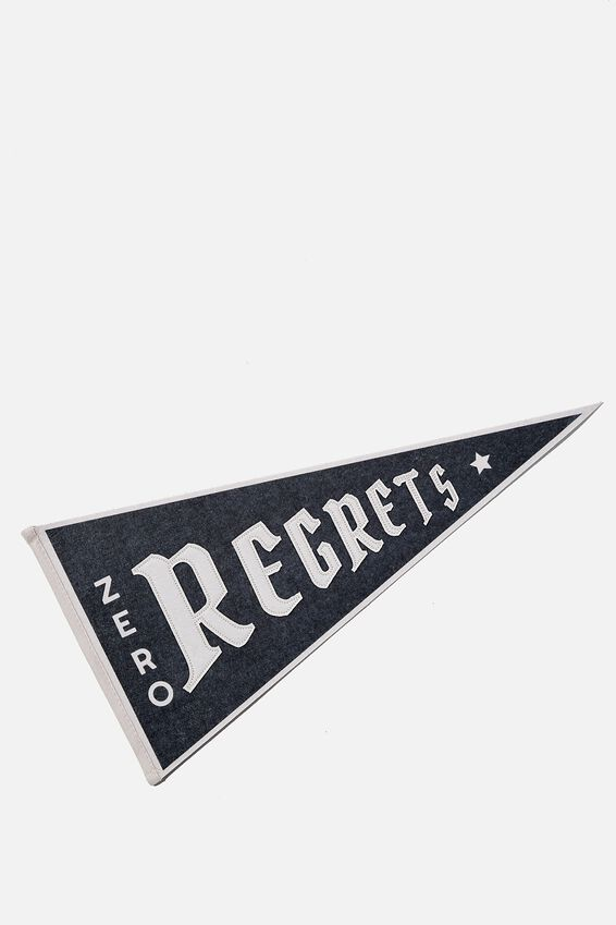 Pennant Wall Flag, ZERO REGRETS