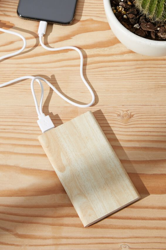 Printed Charge It Charger, WOODGRAIN