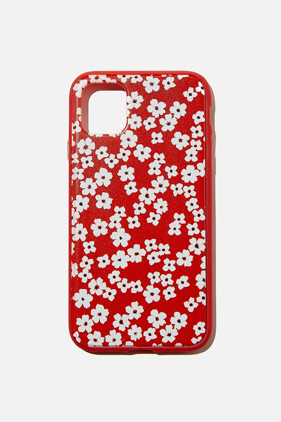 Protective Phone Case iPhone 11, RG TRUE RED CHERRY BLOSSOM