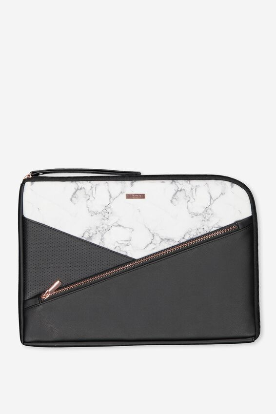 Premium Laptop Case 13 inch, WHITE MARBLE SPLICE