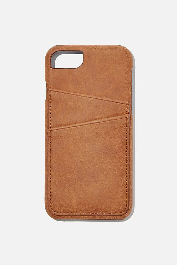 The Phone Cardholder SE, 6,7,8, MID TAN